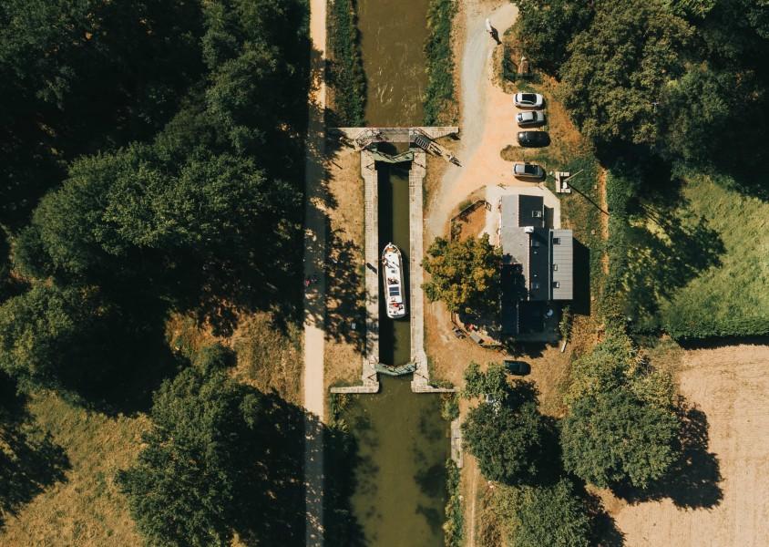 Ecluse Drone - Jérémy Jehanin - Canal de Nantes à Brest